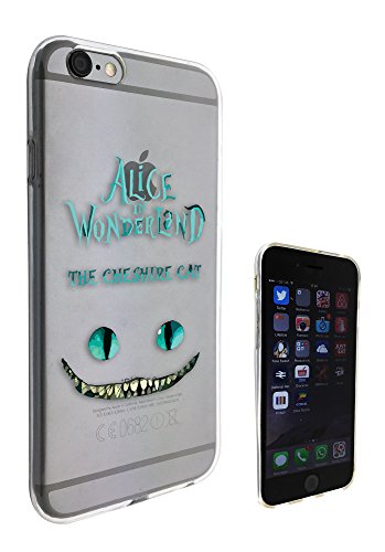 c0142–Alice au Pays des Merveilles Chat du Cheshire iphone 5/5S Motif Fashion Trend coque En Gel de Silicone Housse étui de protection Transparent
