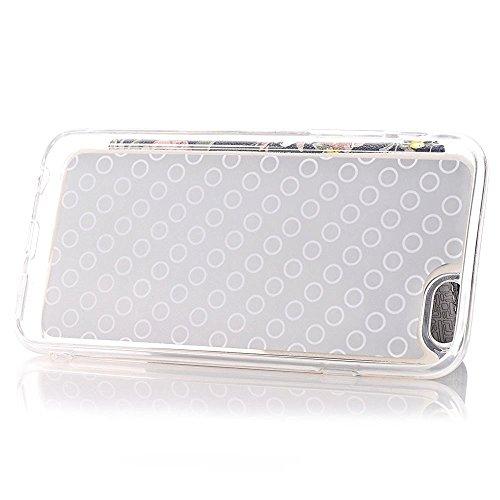 iPhone 7Hülle,TechCode® Ultra Dünn Transparent Soft Handyhülle / Kreditkarten Steckplätze / Hülle / Perfekte Passform / Durchsichtige Schutzhülle für iPhone 7 Case, iPhone 7Cover (iPhone 7, A04-ROSE) A02
