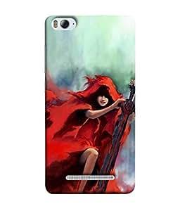 99Sublimation Designer Back Case Cover For Xiaomi Mi 4i :: Xiaomi Redmi Mi 4i War Lady Oil Paint Design