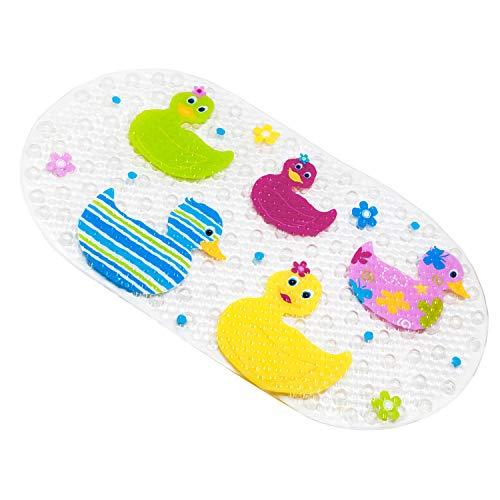 wanneneinlage Baby Wanneneinlage BliGli Frosch Suckers Kunststoff Antirutschmatte Schönen Optik Anti-Rutsch Badematte Karikatur Entwurf Massage Dusche Badematte mit Saugnäpfen (Duck) ()