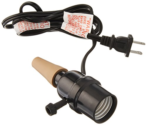 Darice Verschiedenen Flasche Stopper w/Lampe Socket-6'Kordel