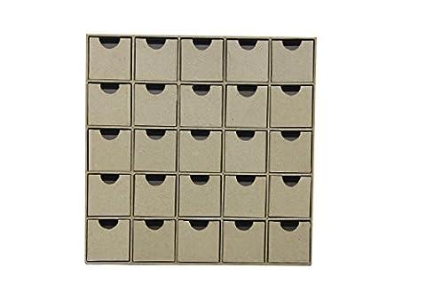 Décopatch - HD018O - Loisir créatif - Etagère de 20 Petits Tiroirs, 5 x 25 x 25 cm