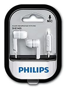 Philips SHE1405WT In-Ear Headphone with Mic