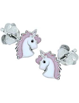 1 Paar kleine Einhorn, Sterling-Silber 925 Ohrringe
