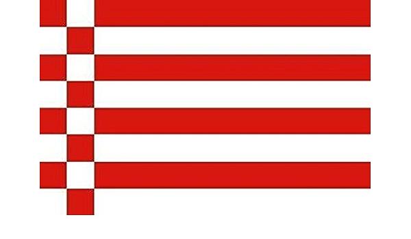 U24 Aufkleber Bremen Speckflagge Flagge Fahne 12 X 8 Cm Autoaufkleber Sticker Auto