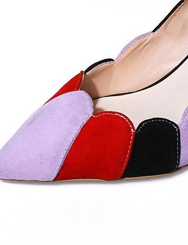 WSS 2016 Chaussures Femme-Bureau & Travail / Habillé / Soirée & Evénement-Noir-Talon Aiguille-Talons / Bout Pointu-Talons-Daim black-us5 / eu35 / uk3 / cn34