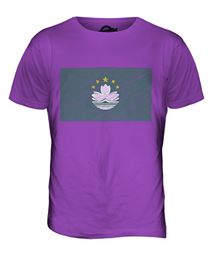 CandyMix Macau Kritzelte Flagge Herren T Shirt Violett
