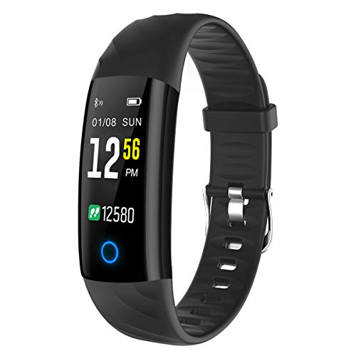 Fitness Tracker, ELEGIANT Fitness Armband Sportuhr Fitness Uhr Sport Armband Schrittzähler Aktivitätstracker IP68 wasserdicht Smart Armbanduhr mit Pulsmesser Kalorienzähler Blutdruckmesser SMS Meldung