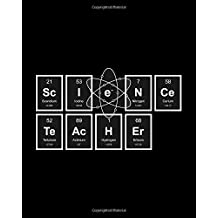 Science Teacher: Periodic Table of Elements, 8 x 10 Inch Matte Softcover Paperback Notebook