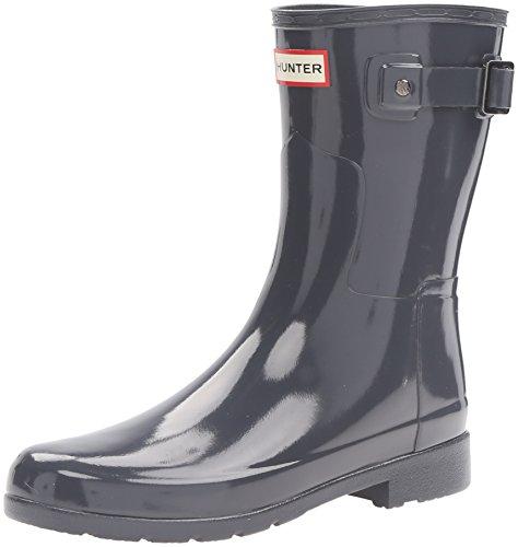 Hunter Damen Original Refined Short Gloss Winter Schnee Regen Stiefel EU 36-43 (Hunter Frauen Kurze Regen Stiefel)