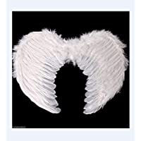 PartyToko Feathre Wings/Dance Theme/Halloween Theme/Angel Feather Wings White Color Cosplay Halloween Fancy Dress…