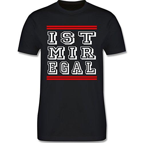 Statement Shirts - IST MIR EGAL - Herren Premium T-Shirt Schwarz