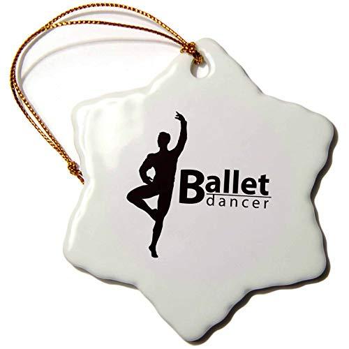 3dRose Balletttänzerin Schneeflocke, 7,6 cm