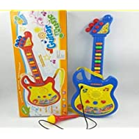 Brunte Big Musical Electric Guitar Kids Toy, with Mic