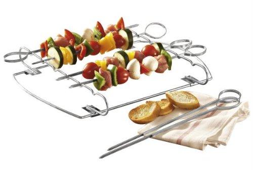 Galleria fotografica G S D Haushaltsgeräte 30 508-Griglia con spiedi per Kebab, in acciaio INOX