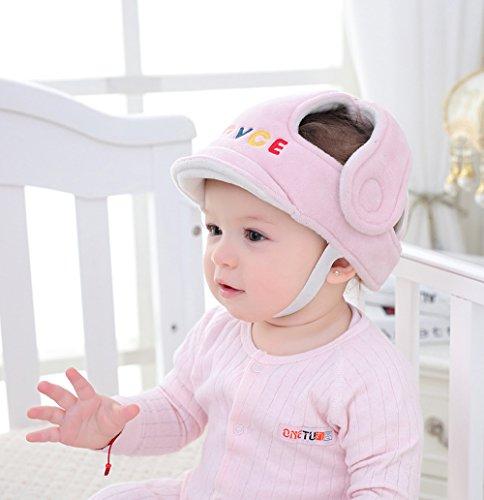 JXWANG Babys Kopfschutzkissen Schutzhelm - Prevent Kopf Verletzt Für Kleinkind Lernen, Zu Gehen Oder Laufen,Pink