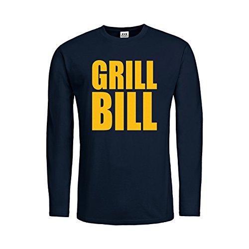 dress-puntos Kids Kinder Langarm T-Shirt Grill Bill 20drpt15-ktls00229-100 Textil Deepnavy/Motiv Gelb Gr. 140