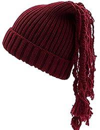 LR KDMN A Modelos Femeninos Sombrero Tejido Moda Mantener Caliente Frío  Color sólido Otoño e Invierno c83fe9087aa