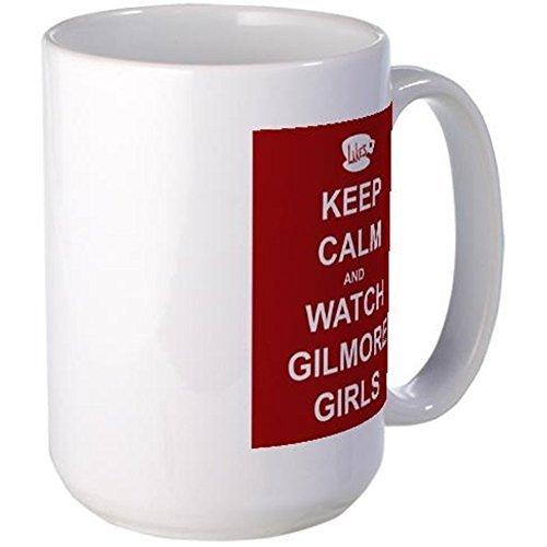 CafePress - Keep Calm Watch Gilmore Girls Mug - Coffee Mug, Large 15 oz. White Coffee Cup by CafePress