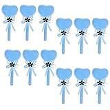 MagiDeal 12 Stück Lollipop Form Geschenk Kasten Karton Süßigkeit Kasten Gast Kasten für Hochzeits Taufe Geburtstags Party Dekor - Blau