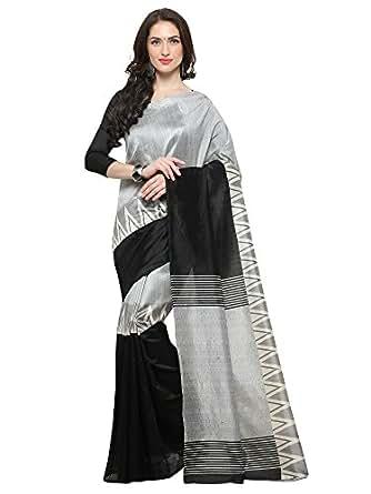 Saree Mall Art Silk Saree With Blouse Piece (_White_Free Size)