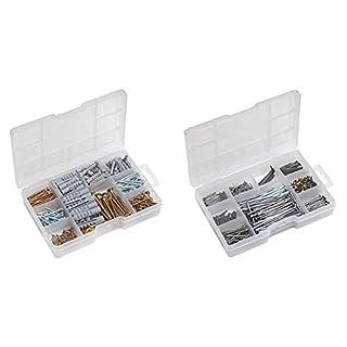 Meister Dübel- und Schrauben-Sortiment ✓ 233-teilig ✓vorsortierte Dübel und Spanplattenschrauben | Sortimentskasten | Befestigungs-Set | 947320 & Nagel-Sortiment - praktische Kleinteilebox