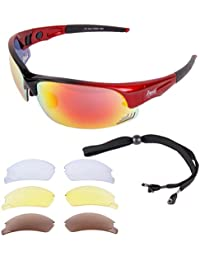 Rapid Eyewear Edge Red UV400 POLARISED SUNGLASSES for Cycling and Triathlons