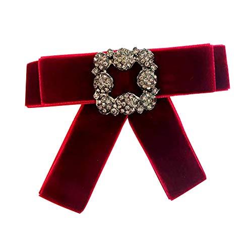 Nikgic Collar Accesorios Broche Fila Diamante Diamante
