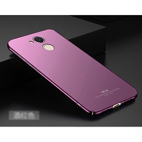Huawei Honor V9 Play Hülle, MSVII® Sehr Dünn Hülle Schutzhülle Case Und Displayschutzfolie für Huawei Honor V9 Play - Lila JY00376 Lila