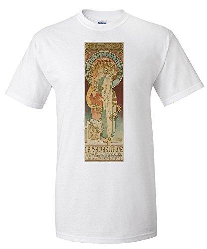 la-samaritaine-vintage-poster-artist-mucha-alphonse-france-c-1897-premium-t-shirt