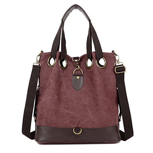 HongyuTing Women Vintage Canvas Shoulder Bag Handbag and Hobo Bags for office and Casual Daily