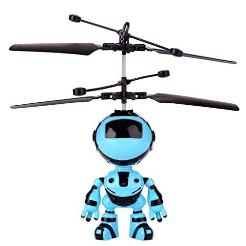 Chenang Intelligent Induktionsroboter,Mini Helicopter RC Hubschrauber USB Helicopter Classic Drohne Fliegendes Spielzeug für Kinder und Anfänger