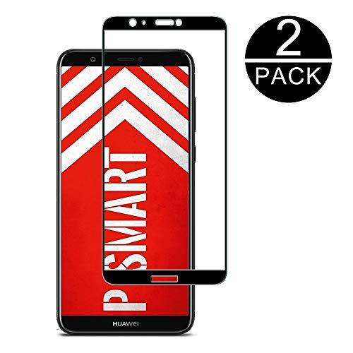 TECHKUN Panzerglas Schutzfolie für Huawei P Smart Ultra-Klar,9H Härte,Anti-Fingerabdruck,Anti-Bläschen,Bildschirmschutzfolie für Huawei P Smart [2 Stück]