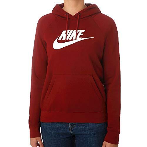 Nike Damen W NSW ESSNTL Hoodie PO HBR Sweatshirt, Team red/White, M