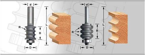 Amana 54213 1 8 8 8 Radius Triple Bead router bit by Amana | Di Progettazione Professionale  | lusso  | Spaccio  7e3270
