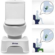 Taburete fisiológico para inodoro | Banqueta baño embarazadas | Ayuda para ir al baño | Taburete para baño | Evacuación completa fácil | Pie-banqueta reposapiés | Anti-estreñimiento | Alzador de pies
