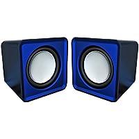 Omega OG01B - Altavoces 2.0, 6 W, con MiniJack y USB, color azul [España]