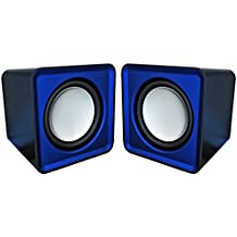 Omega OG01B - Altavoces 2.0, 6 W, con USB, color azul