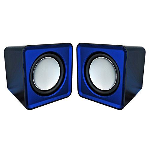 Omega OG01B - Speakers 2.0, 6 W, with minijack and USB, color blue [Spain]