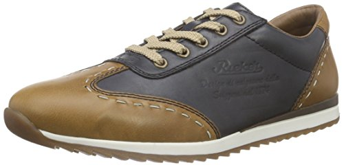 Rieker 19342 Sneakers-men Herren Low-Top Braun (zimt/lake / 24)