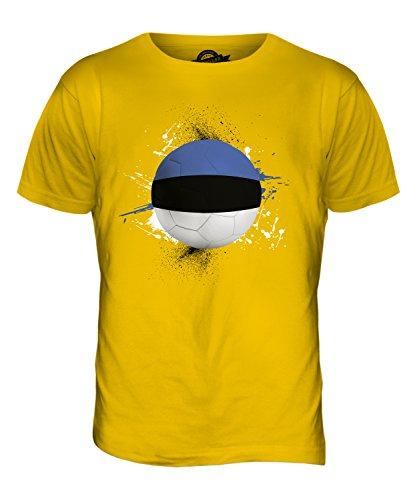 CandyMix Estland Fußball Herren T Shirt Dunkelgelb