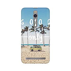 RAYITE Good Vibes Only Premium Printed Mobile Back Case Cover For Asus Zenfone 2