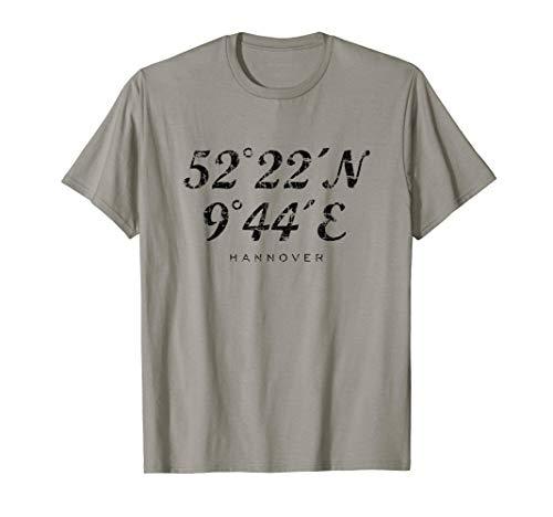 Hannoveraner Koordinaten (Vintage Schwarz) Hannover T-Shirt
