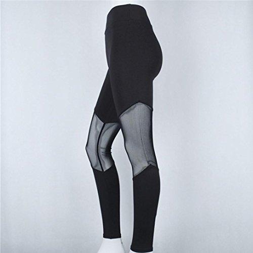 Leggings pour femmes,Tonwalk Taille haute Pantalon de yoga/Workout/Fitness/Running Maigre Élastique leggings Noir