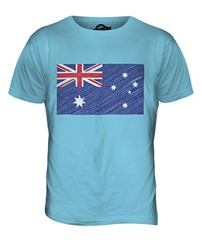 CandyMix Australien Kritzelte Flagge Herren T Shirt Himmelblau