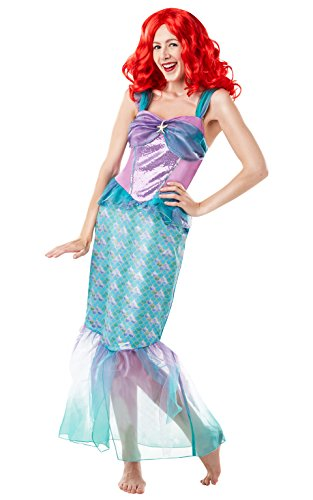 Kostüm Little Mermaid - Rubie 's Offizielles Disney Princess Little Mermaid Ariel Damen Kostüm für Erwachsene - UK Damen Größe