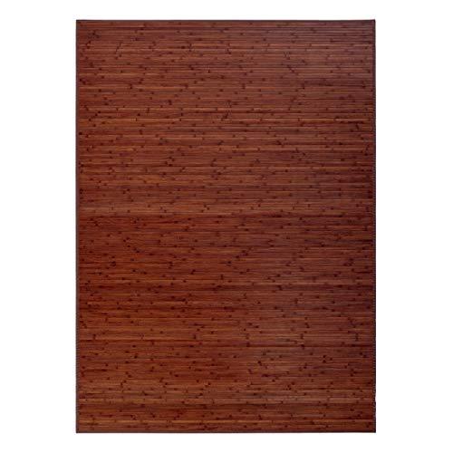 Alfombra salón Comedor Industrial marrón bambú