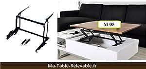 Mécanisme de plateau relevable pour table basse M05 - L'INTERMEDIAIRE