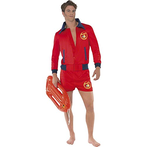 Men's Baywatch Hasselhoff Red Costume - 3 Sizes