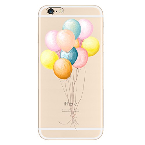 IPHONE 6s Hülle Traumfänger Ballon Karikatur Panda TPU Silikon Schutzhülle Handyhülle Case - Klar Transparent Durchsichtig Clear Case für iPhone 6/6s Ballon-Farbe